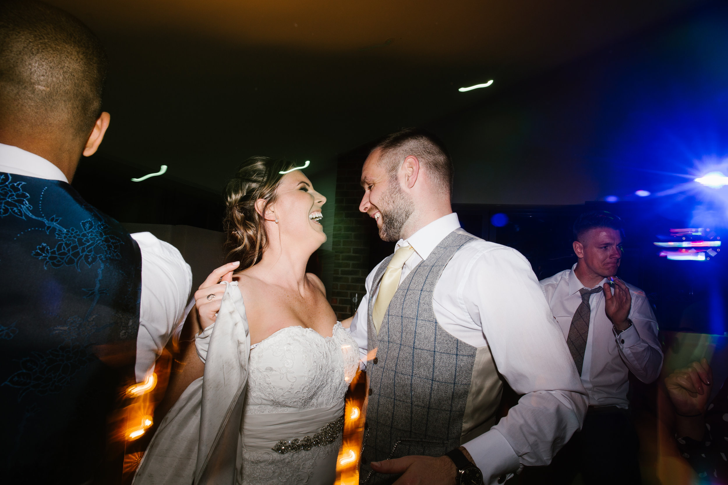 bride and groom on the last dance of the evening at their epic wedding day at the boat house at aston marina in staffordshire