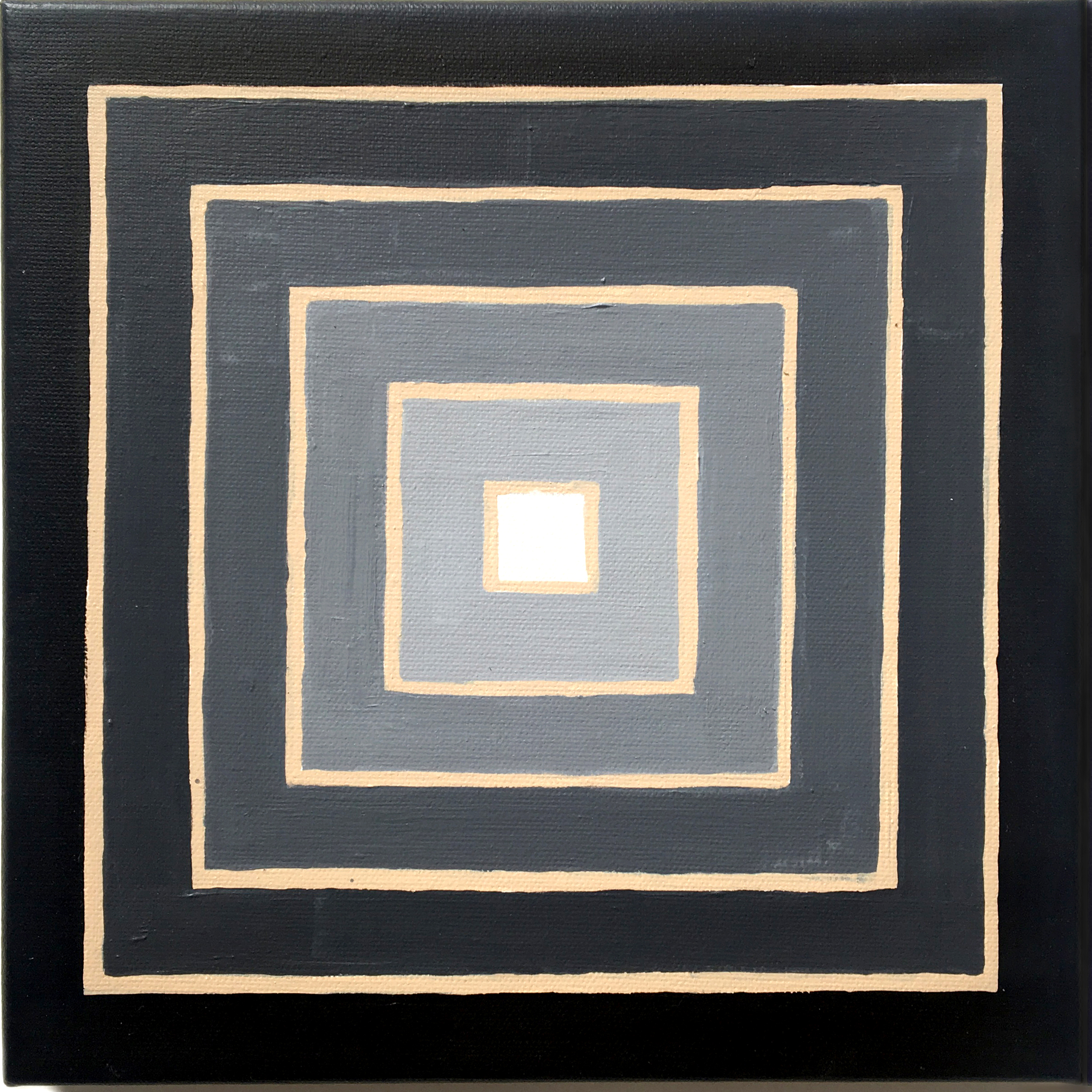 Frank Stella (3), 2019,  Acrylic on canvas,  10 x 10 inches,  25.4 x 25.4 cm