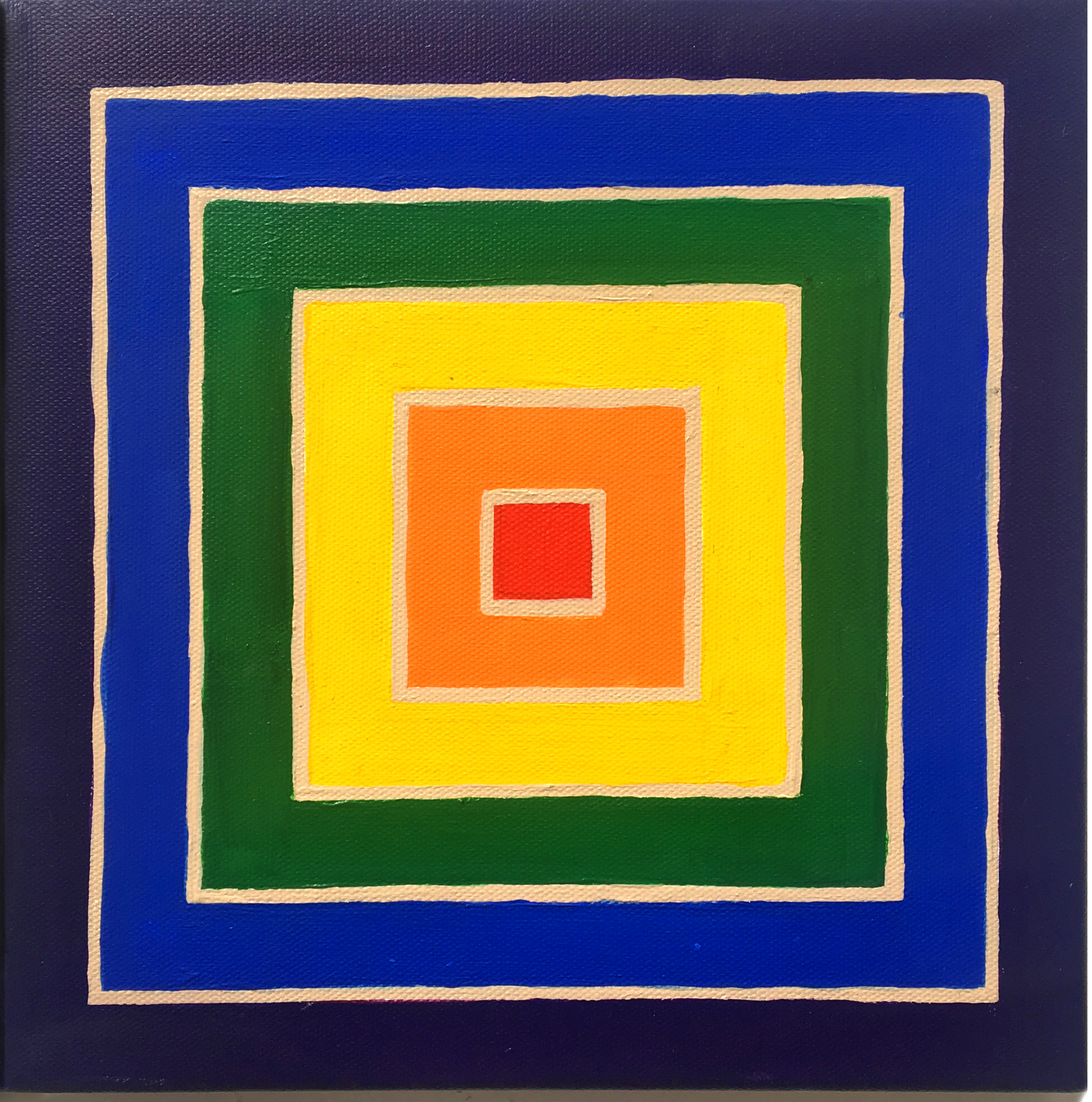 Frank Stella (2), 2019,  Acrylic on canvas,  10 x 10 inches,  25.4 x 25.4 cm
