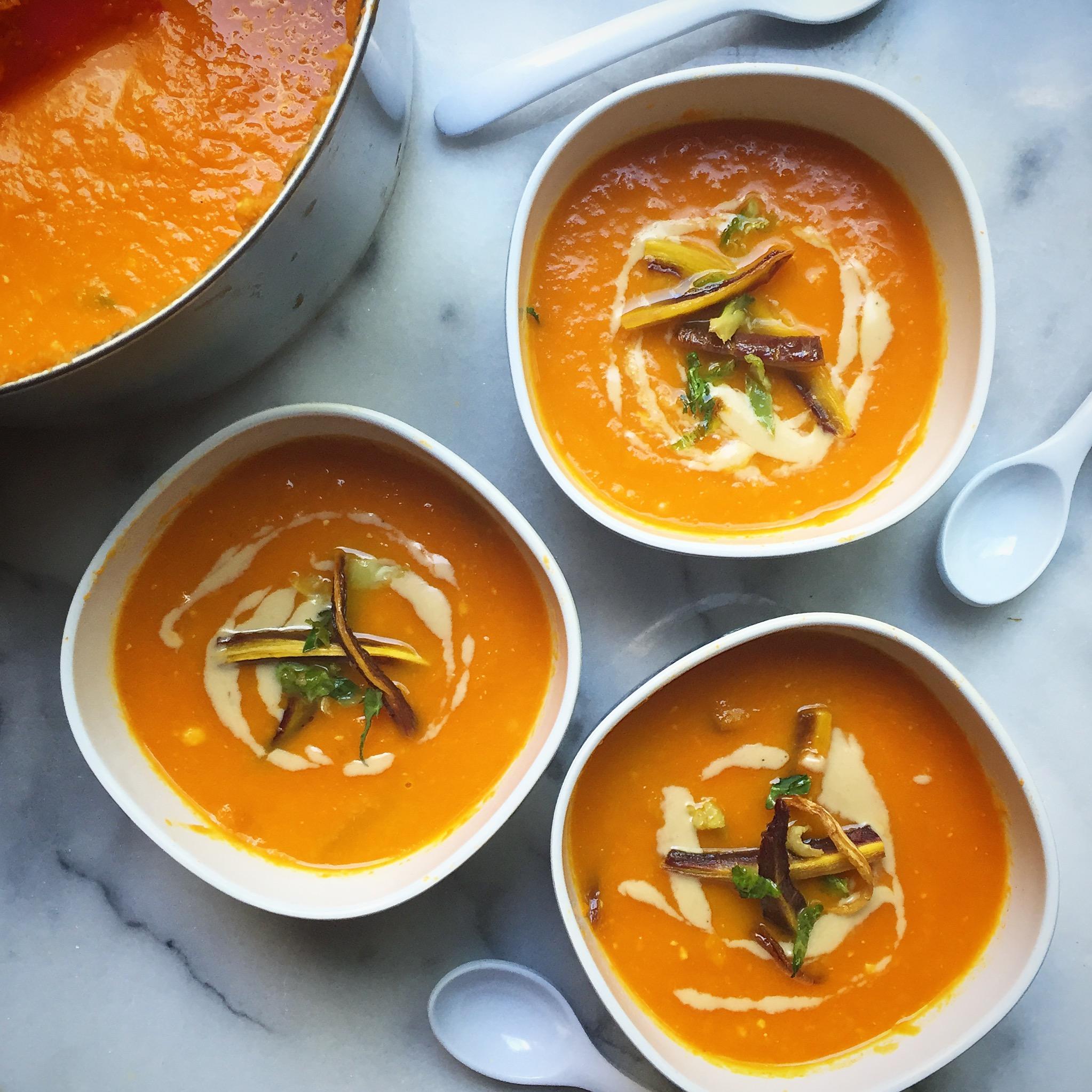 Creamy Miso Carrot Soup -