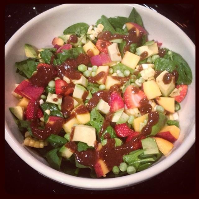 Spring Mix Salad With Grapefruit Tahini Dressing -