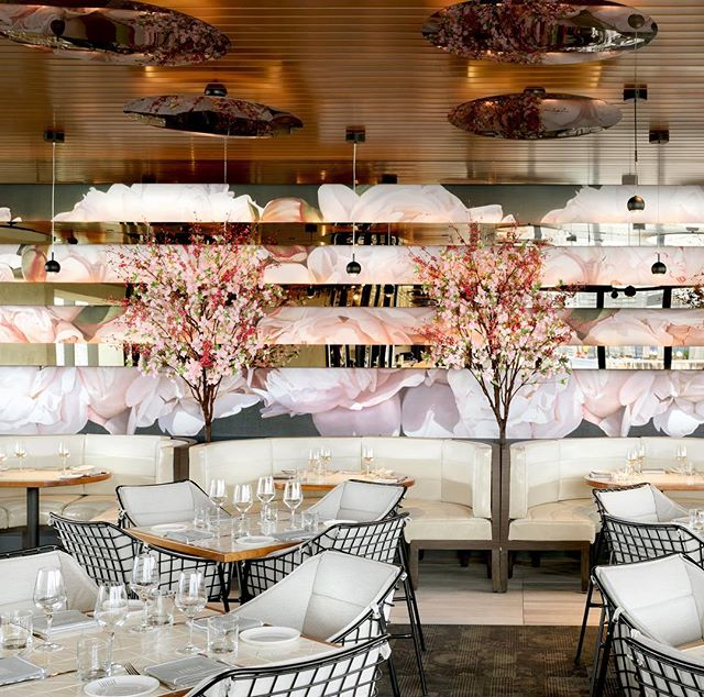 Feeling the cherry blossom at Lavelle Toronto.  #ICRAVEdesigned #interiordesign #hospitaltiydesign #diningexperience  #torontofood