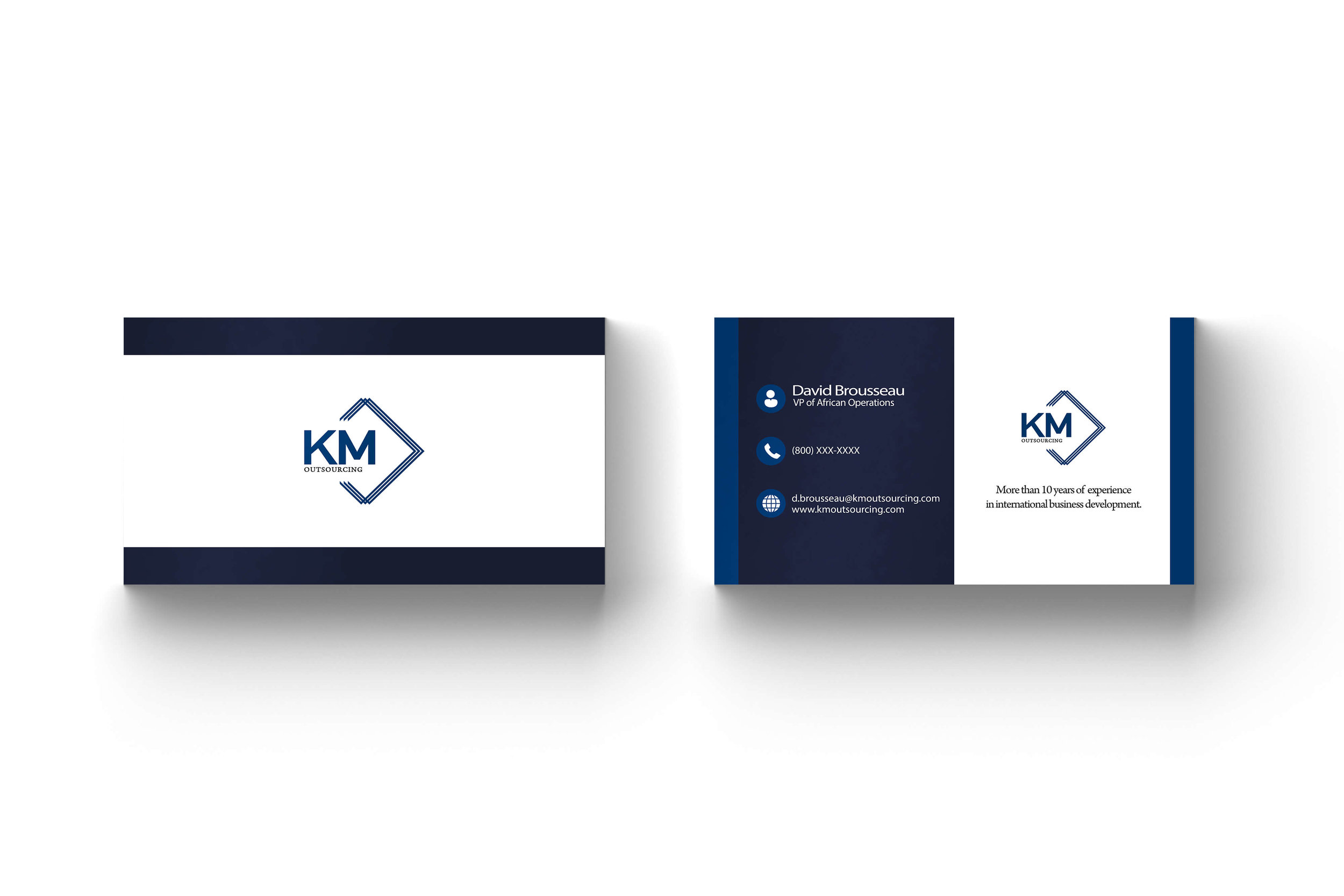Business Cards for KM Outsourcing