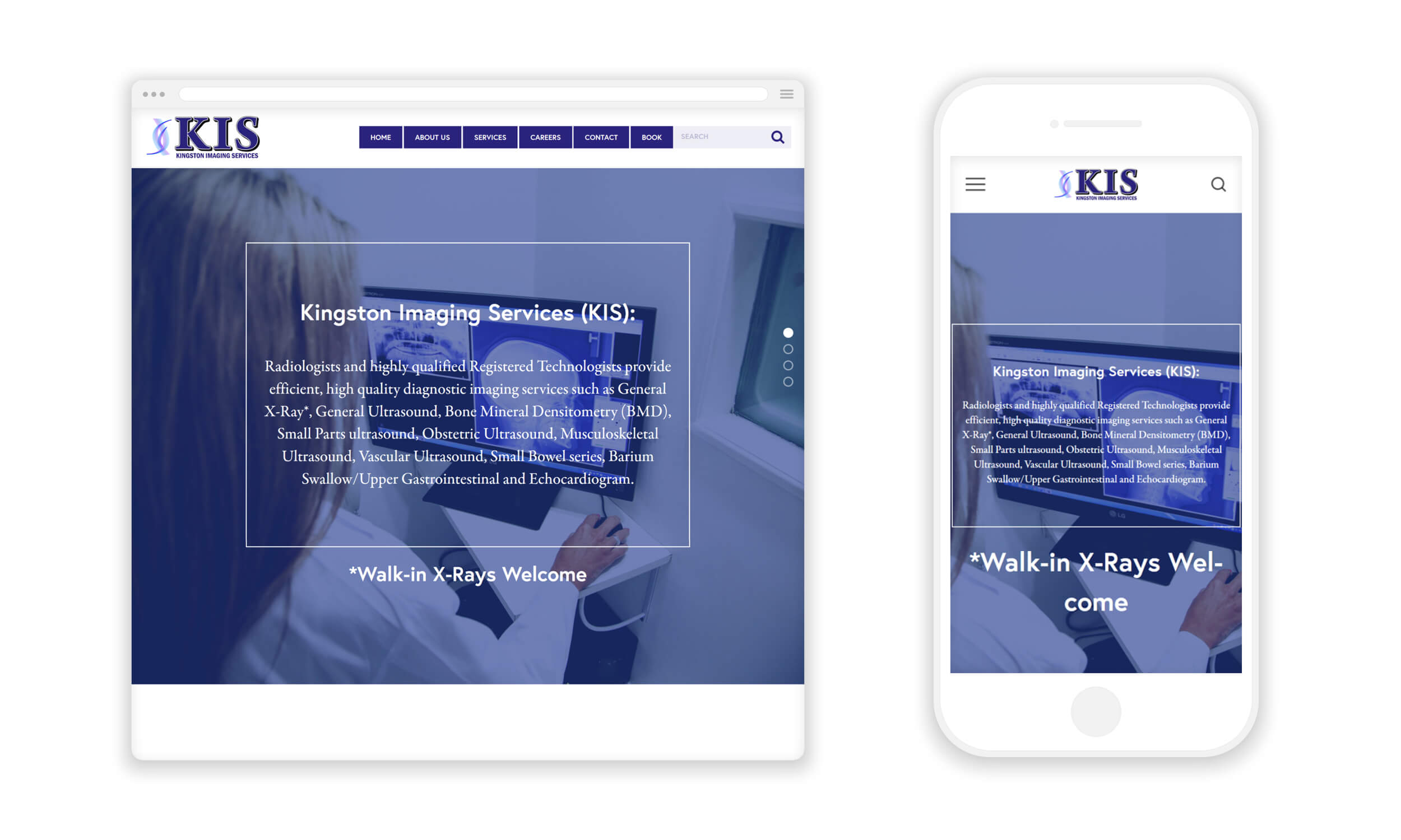Website Design for Kingston Imaging Services