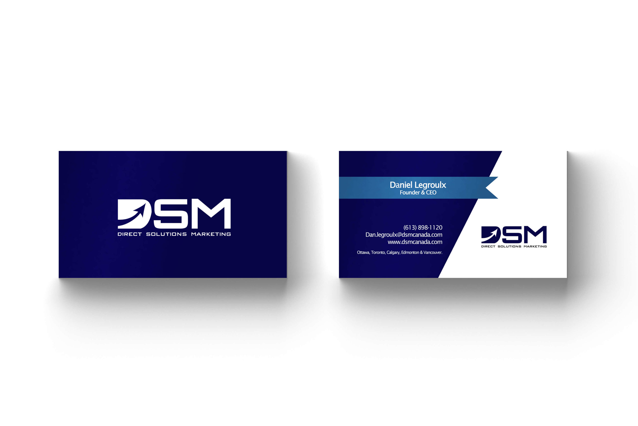 Business Cards for Direct Solutions Marketing