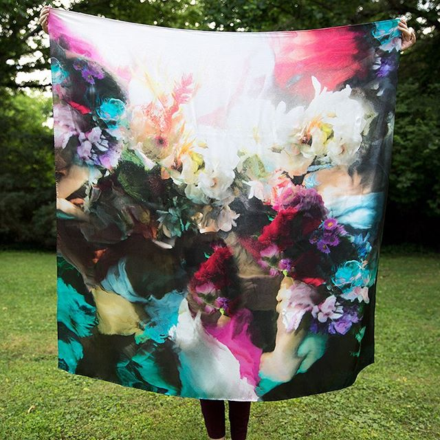 Flower bodies art silk scarf by @christyleerogers available now at https://www.avvola.com #art #scarf #silk #muses #artfashion