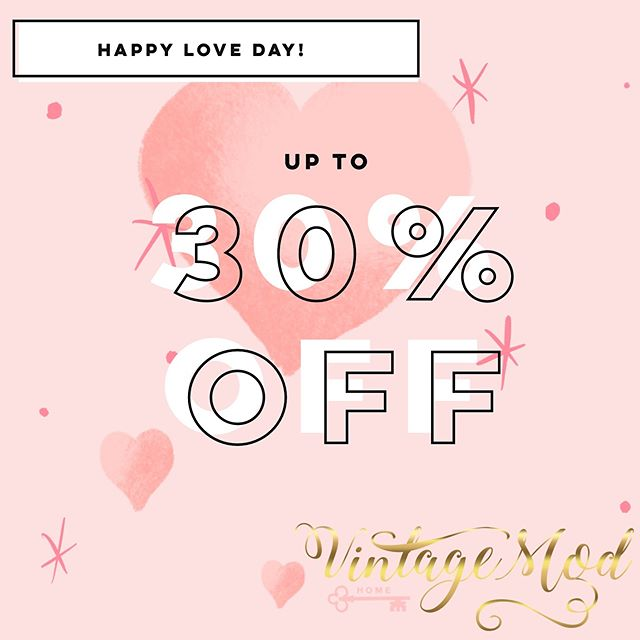 Our longest Sale Ever!!!!! Share the love for the Valentine season with up to 30% off!!! Feb 06th- Feb 15th 2019.  Stop by today and check out our unique one of a kind finds and sale inventory !  3845 N Druid Hills Rd. Suite 204, Decatur, GA 30033 #sale #welovevintage #vintagelovers #vintagemod #vintage #modern #modernhomedecor #vintagehomedecor #homefurnishings #furniture #uniquefinds  #homeaccessories #lamps #sofas #dressers #tables #vases #art #paintings #clocks #dishes #colors #style #decor #liveloveallthingshome. #smallbusiness #decatur #georgia #decaturGa #Northdruidhills
