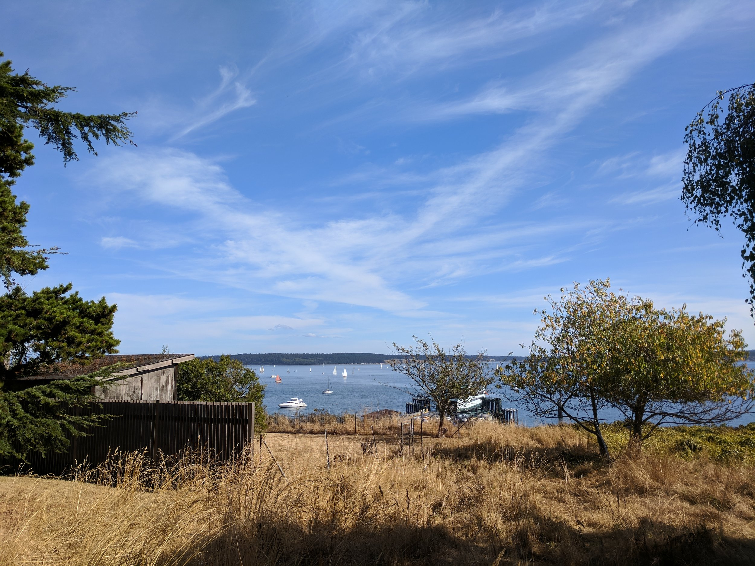 Just one of many beautiful views walking around Port Townsend.