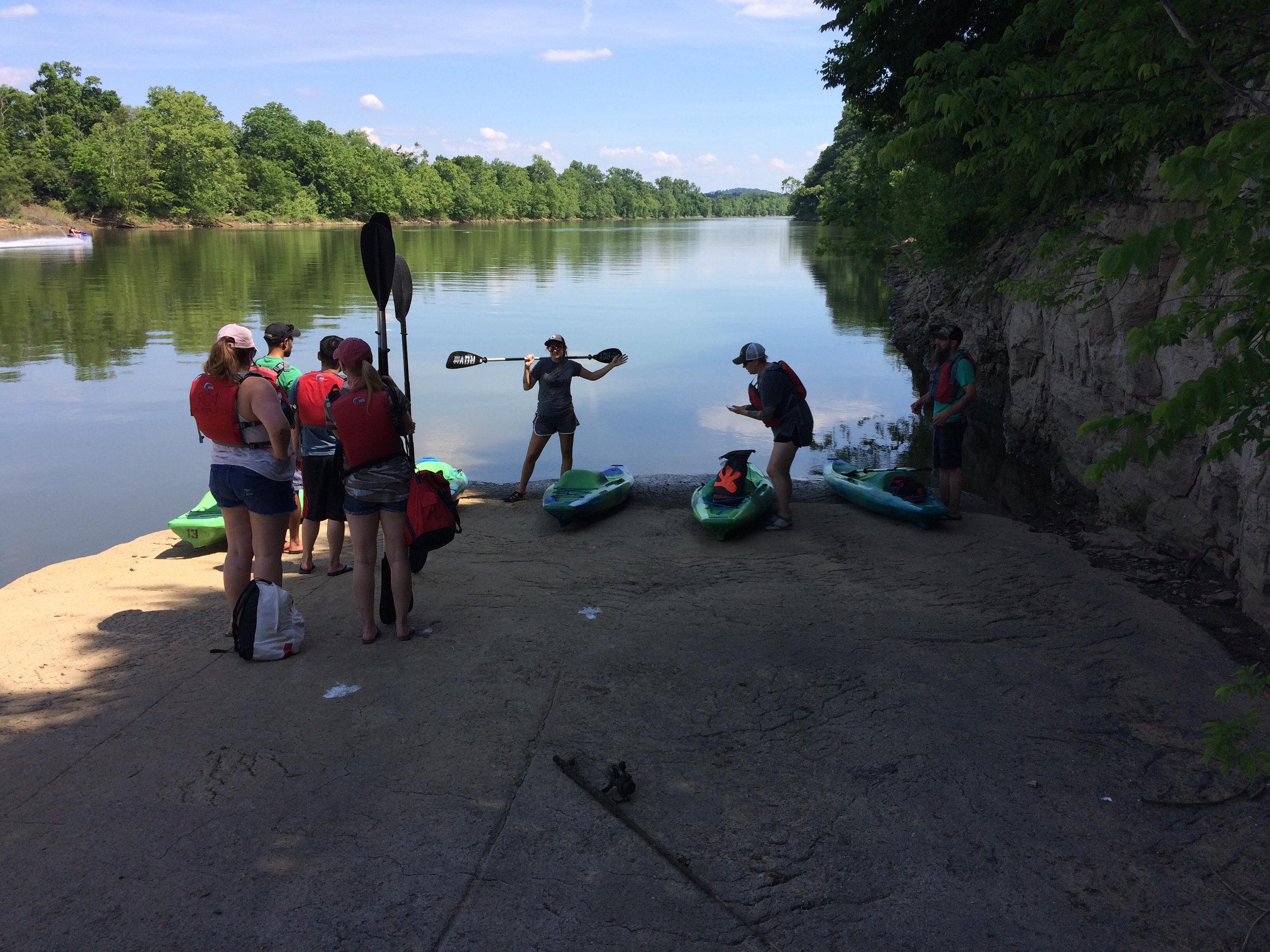 Kayaking 101 at the Cumberland River