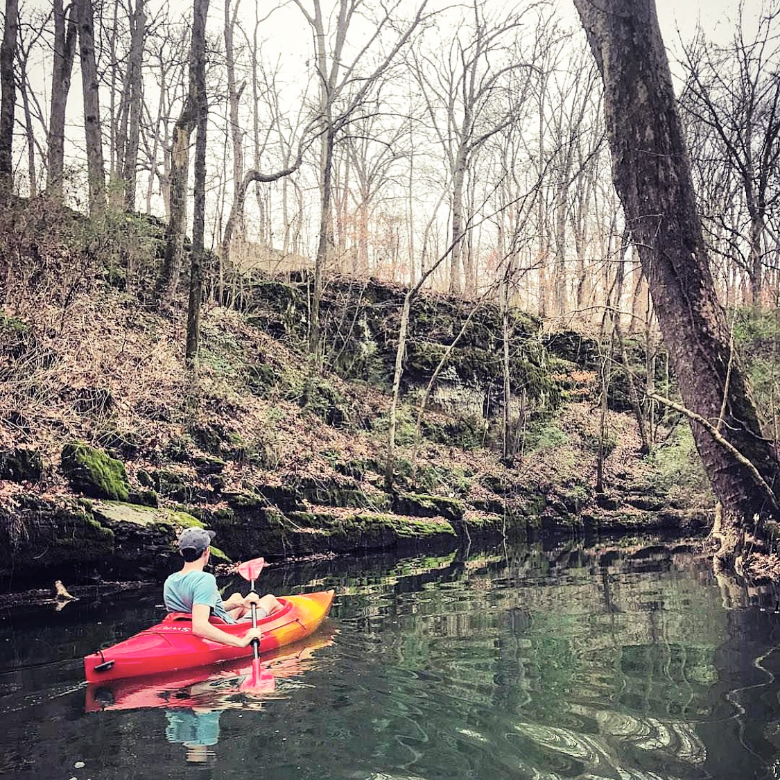 Kayak on the Stones River in Tennessee with River Queen Voyages