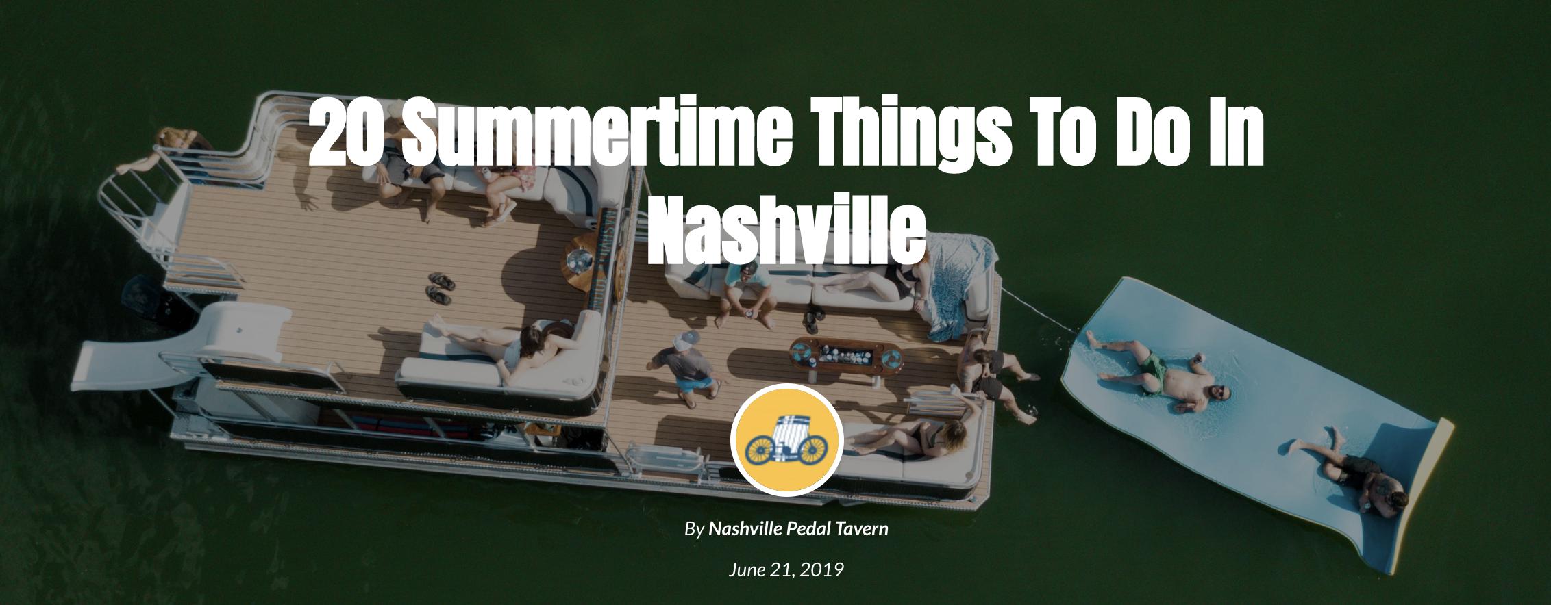 Top 20 Summertime Activities in Nashville feat River Queen Voyages