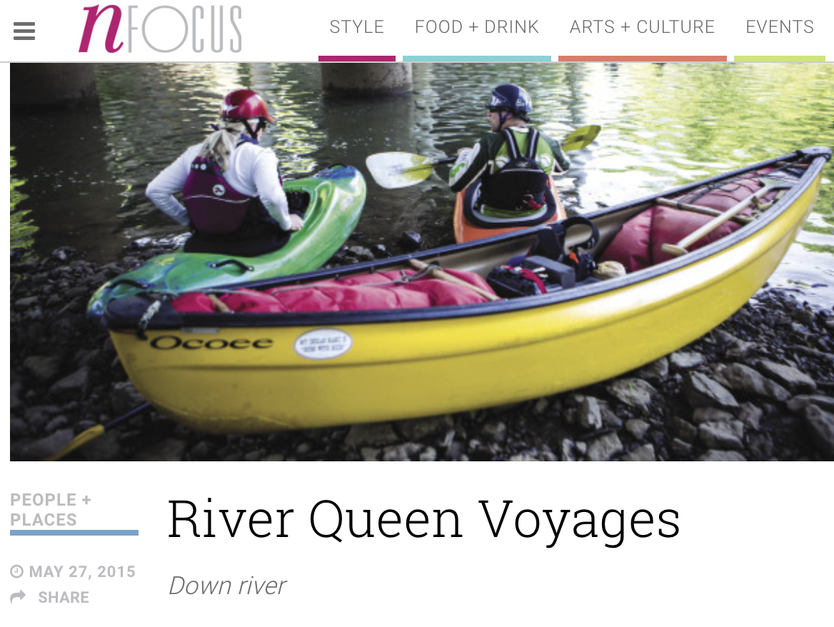 Read what NFocus Nashville had to say about kayaking with River Queen Voyages