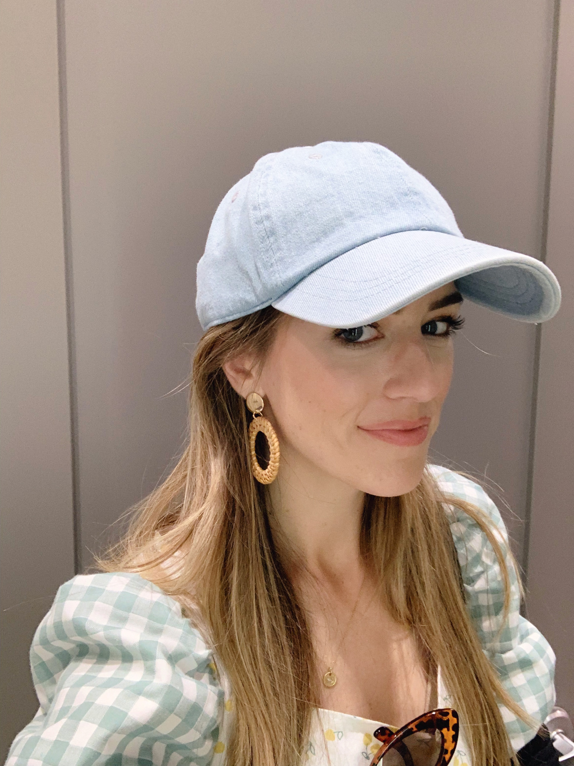 Such a cute take on a baseball cap that you could wear with so many things. Perfect to cover a bad hair day and its only $10.