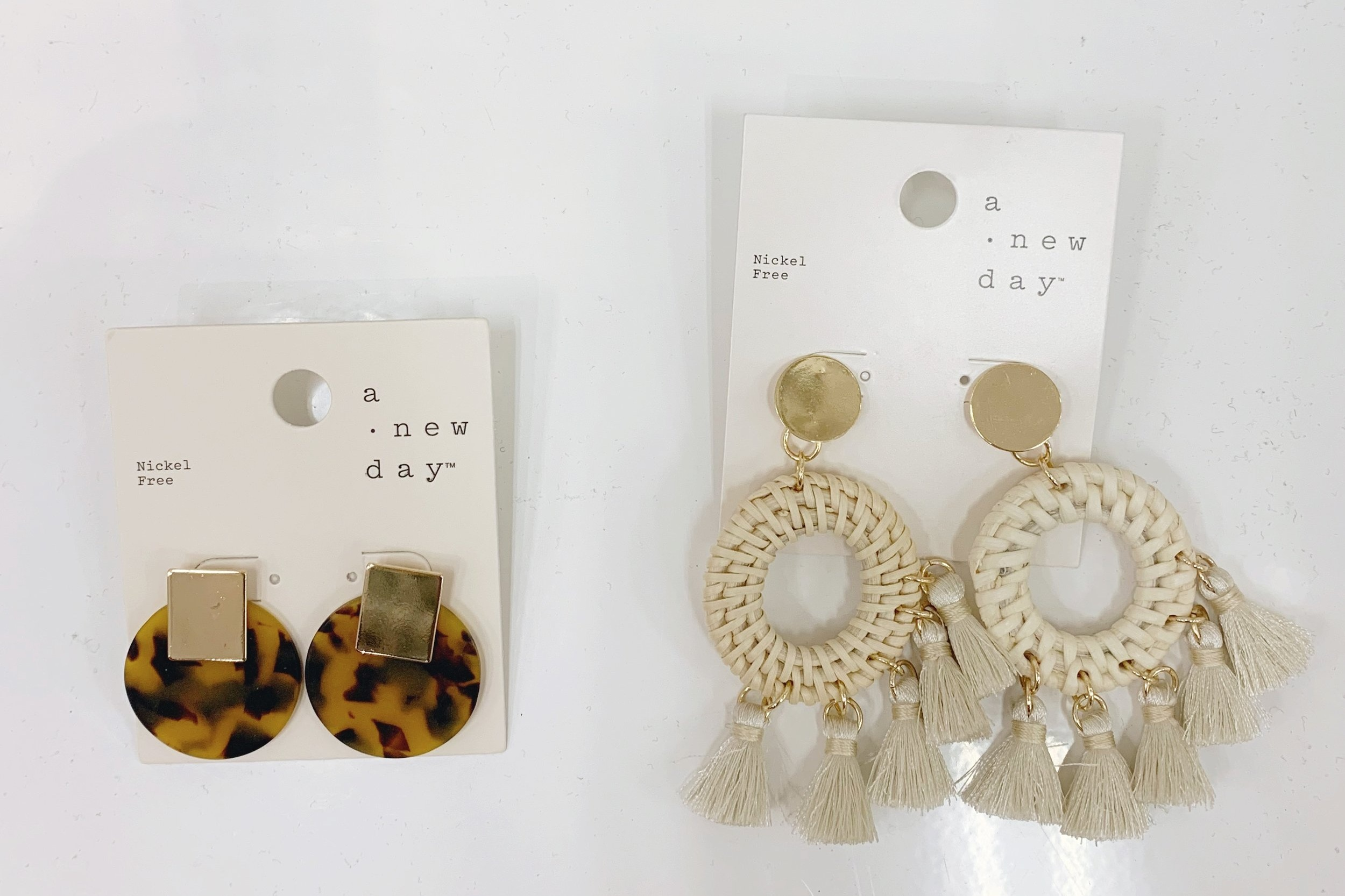 Another spring trend that is everywhere are these big raffia style tassel earrings and variations of tortoise shell. Cant get over the price of these with the tortoise being $6.00 and the tassels being $7.99. You can  click here for the tortoise shell earrings  and  here for the raffia tassels .