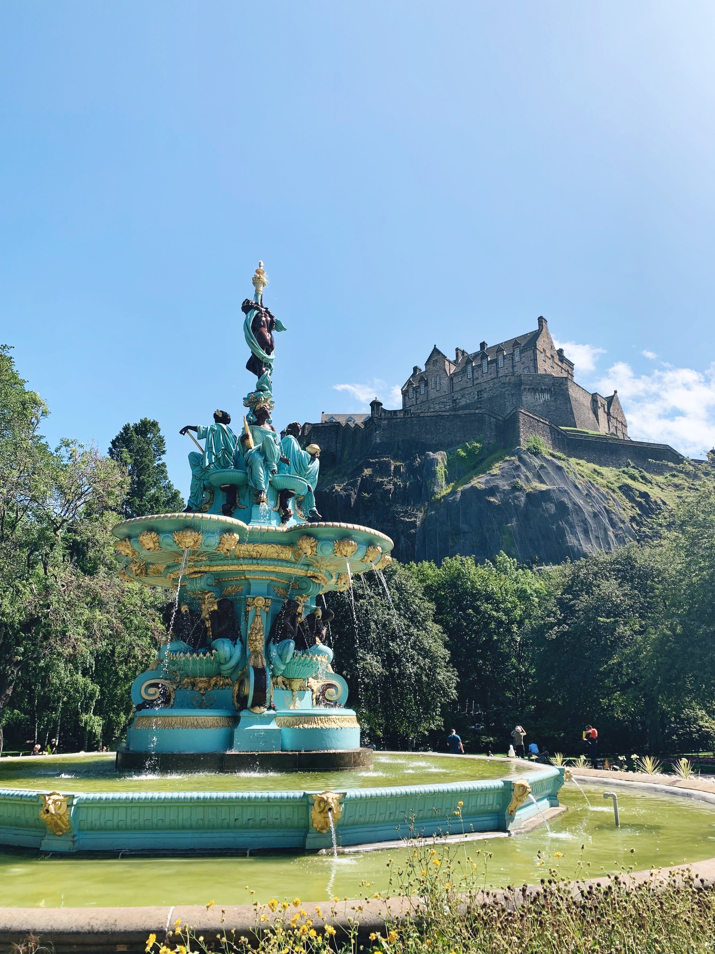 Prince Street Gardens & Edinburgh Castle