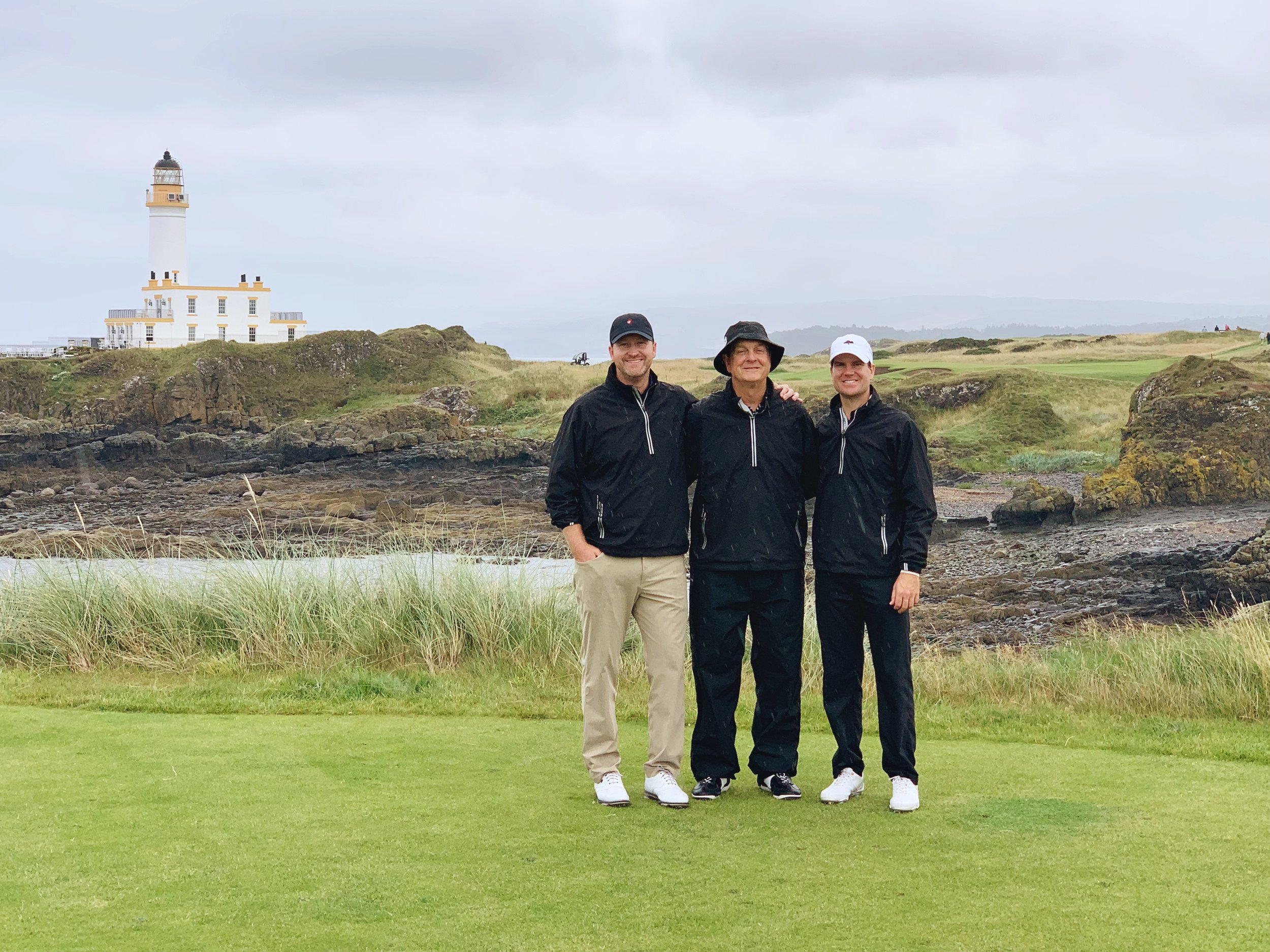 My husband and his dad & brother at Turnberry