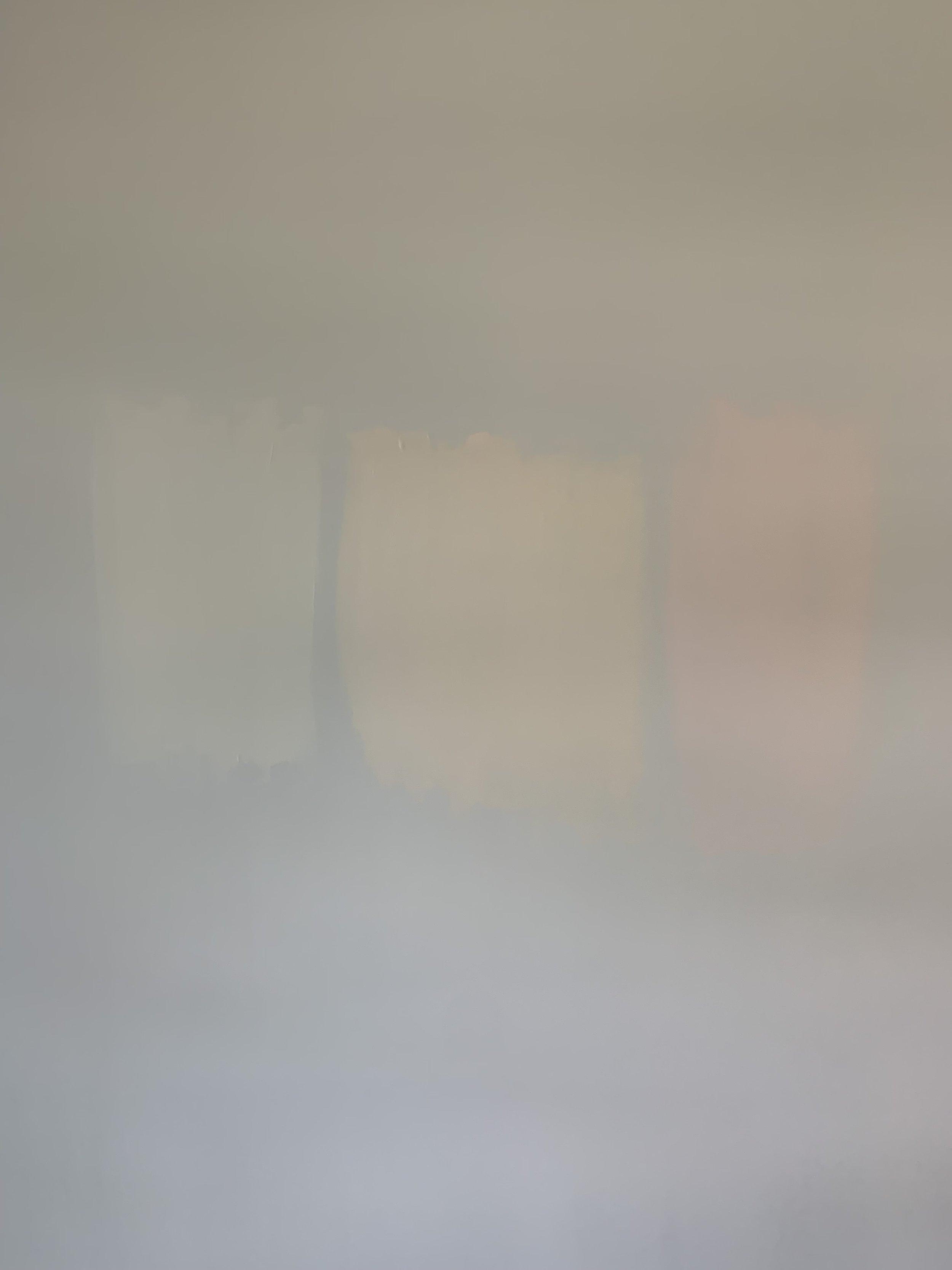 Sutton's Room (L to R):  BM White Dove, BM Opal, BM Cream Puff