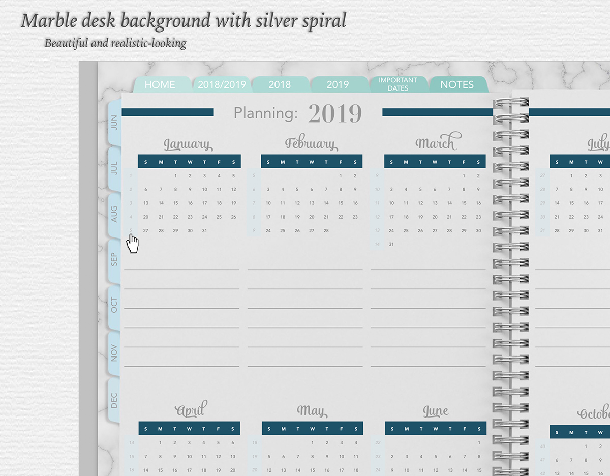 Each week is linked; long-term planning