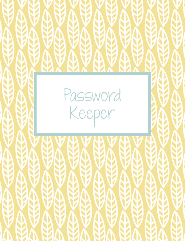 free digital planner password keeper