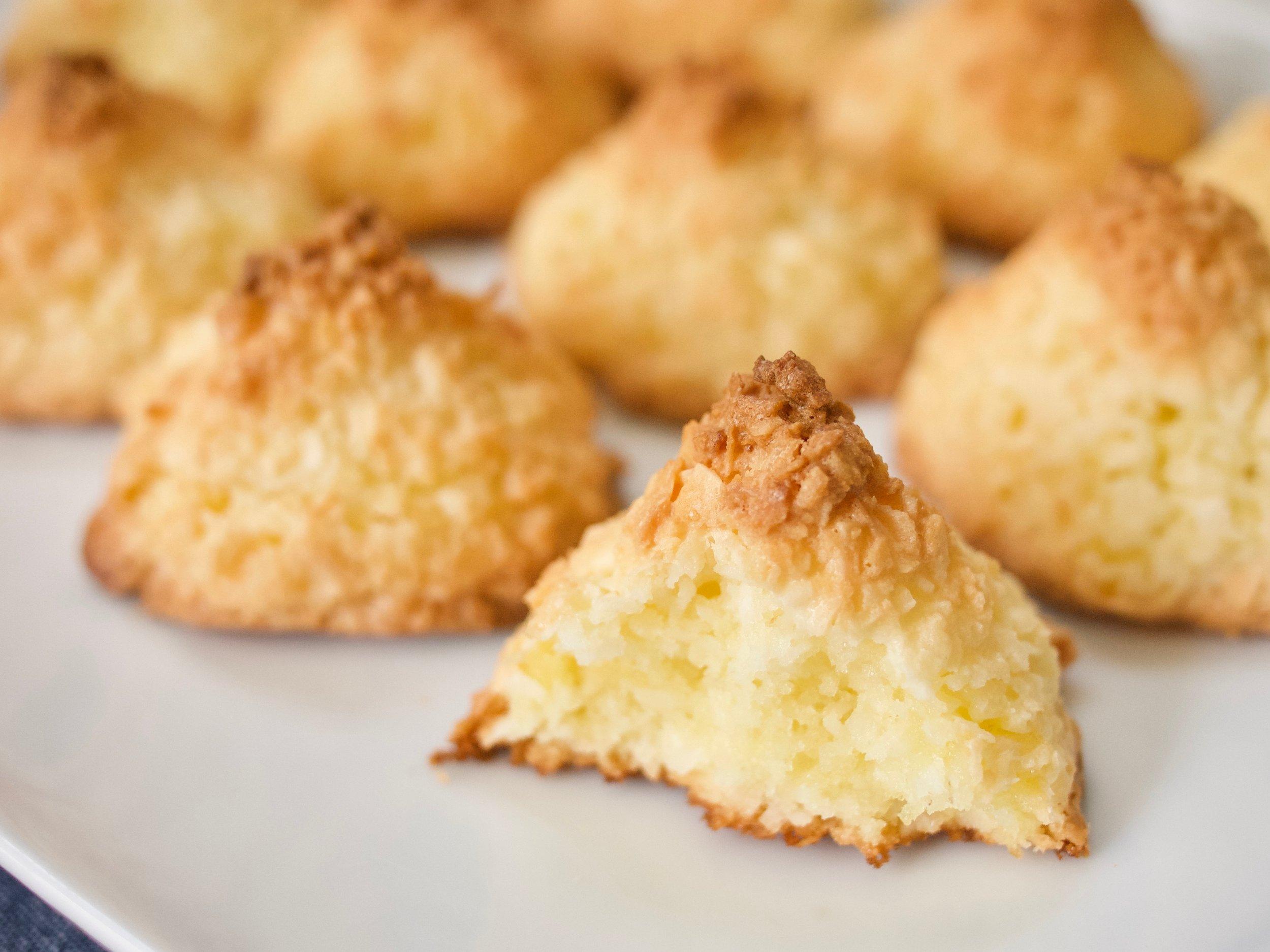 Coconut-Marzipan Macaroons