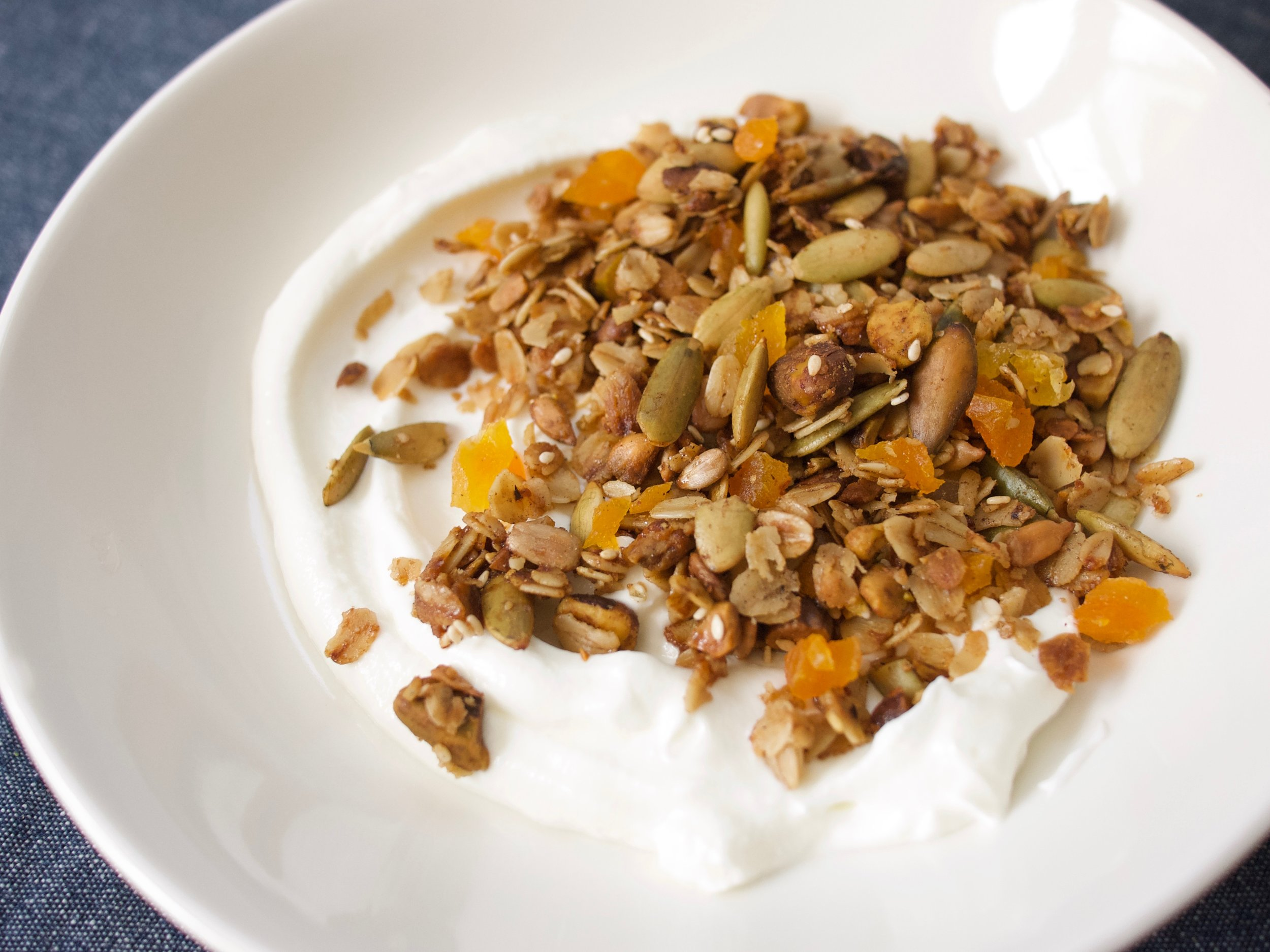 Cardamom Granola with Apricot and Pistachio