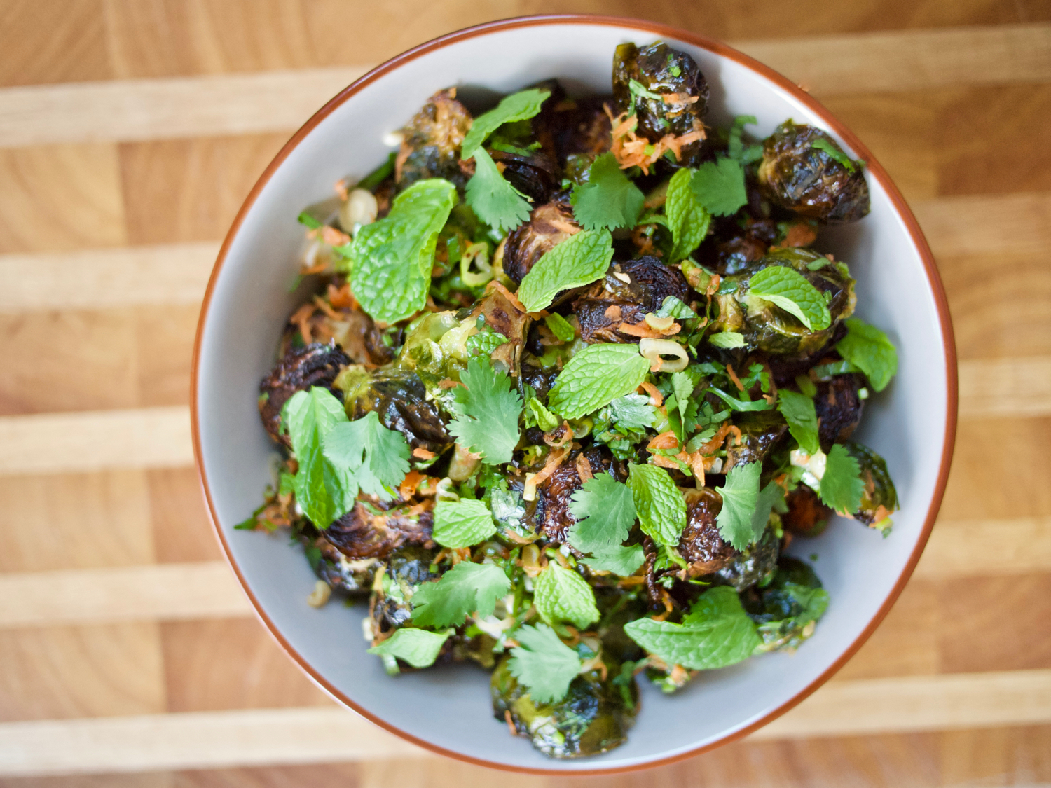 Roasted Brussels Sprouts with Caraway and Star Anise