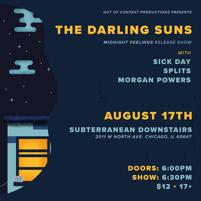 Very excited to announce this!  Our new album will be out in August & our release show will be downstairs at @subtchicago on 8/17 w/ @sickday_music  @wearesplits & @morgan__powers  Super stoked for this lineup of great musicians and can't wait to share our new music with you- you're not gonna wanna miss this! @get2thegig