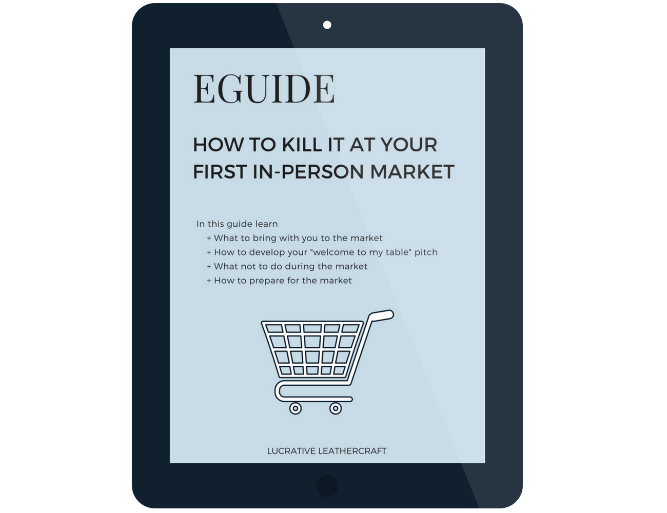 "Nail your first in-person market with this eguide. Learn what to bring with you, how to develop your ""welcome to my table"" pitch and more."