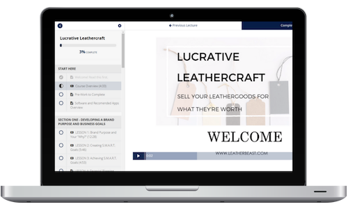 enroll in lucrative leathercraft and sell your leathergoods