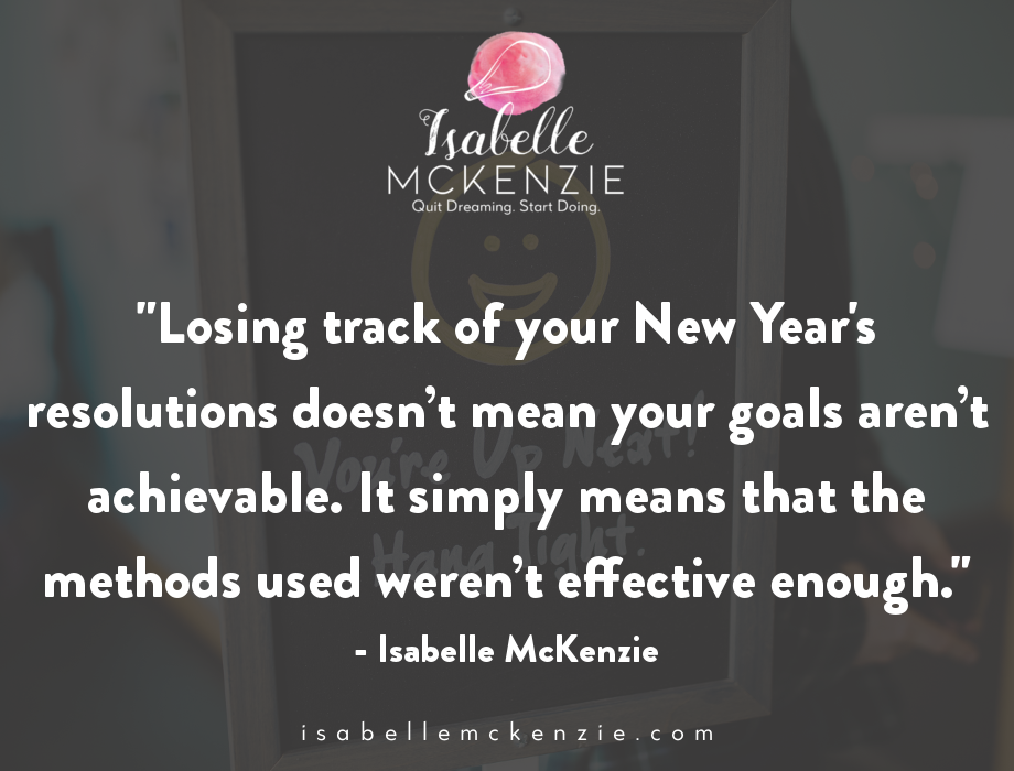How To Keep Your New Year's Resolution + a FREE Challenge - Isabelle McKenzie 3