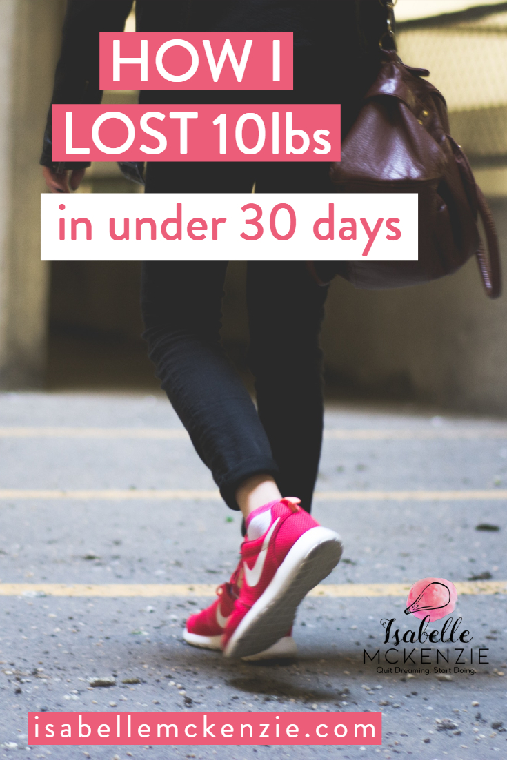 How I Lost My First 10 Pounds (In Under 30 Days)