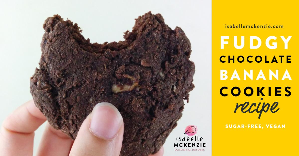 Fudgy Chocolate Banana Cookies Recipe (Sugar-Free, Vegan) - Isabelle McKenzie