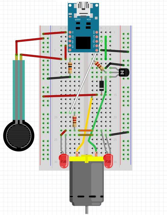 Hypnotizing Wheel Circuit Diagram