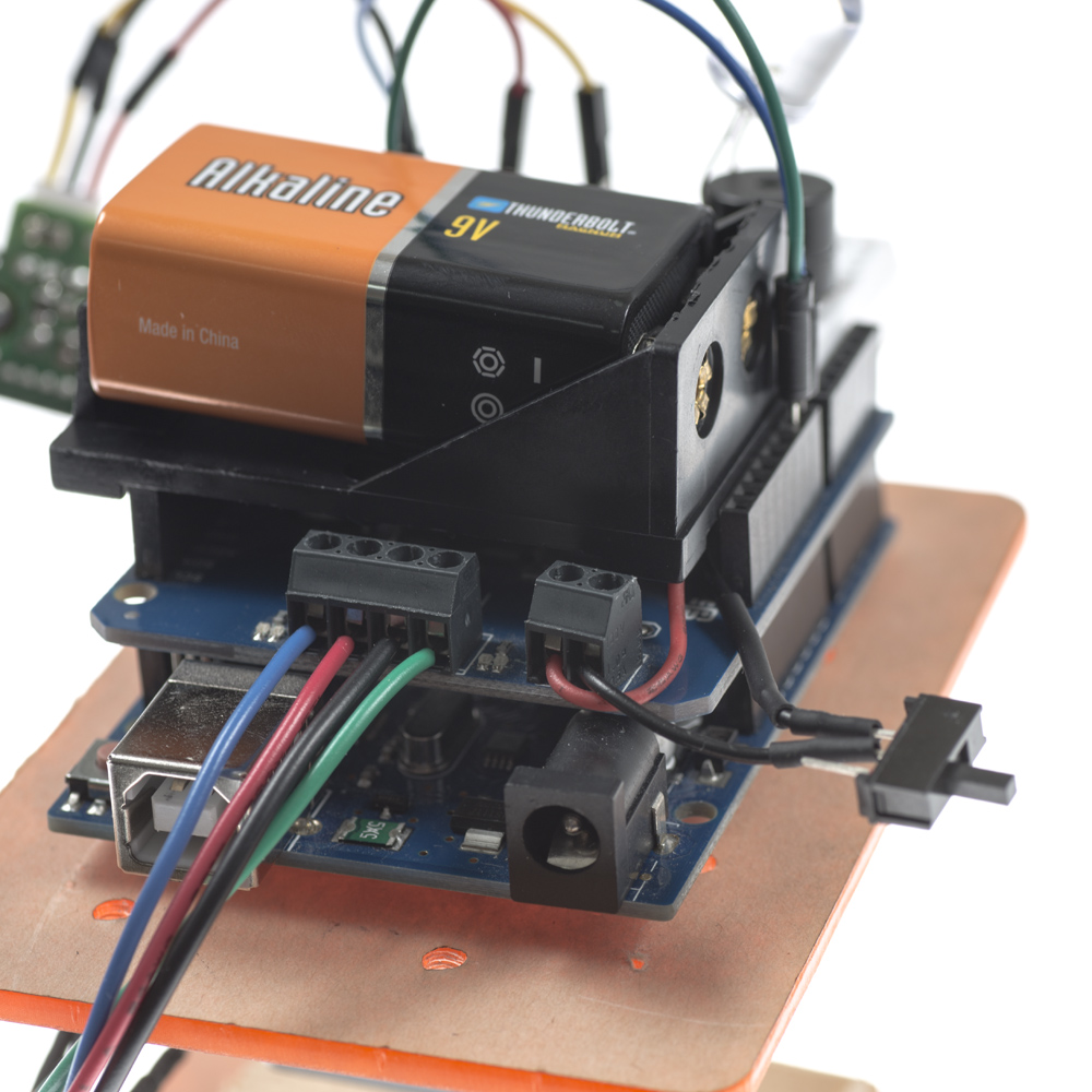 Placement of Battery on Dual Motor Shield