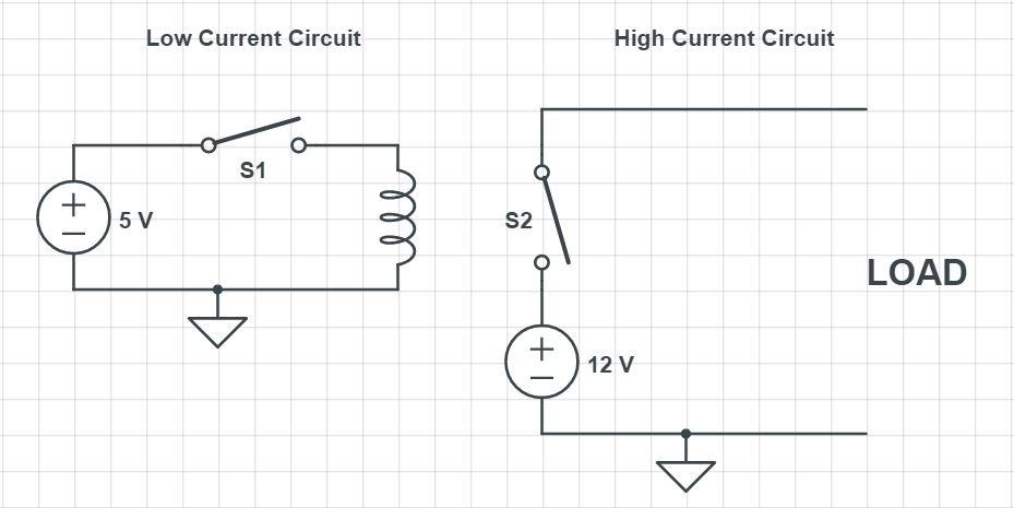 Normally Open Relay Circuit