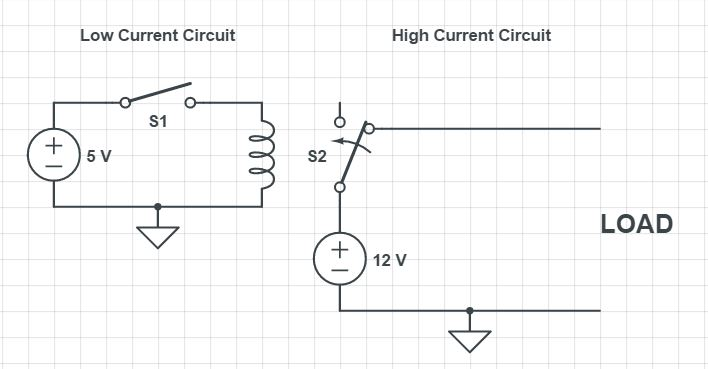 Normally Closed Relay Circuit