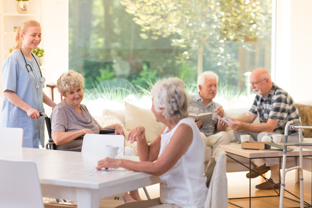 seniors in assisted living