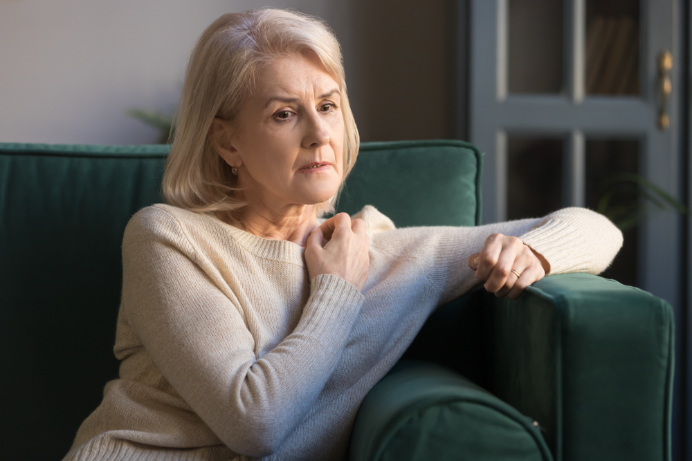 anxiety disorder in senior woman