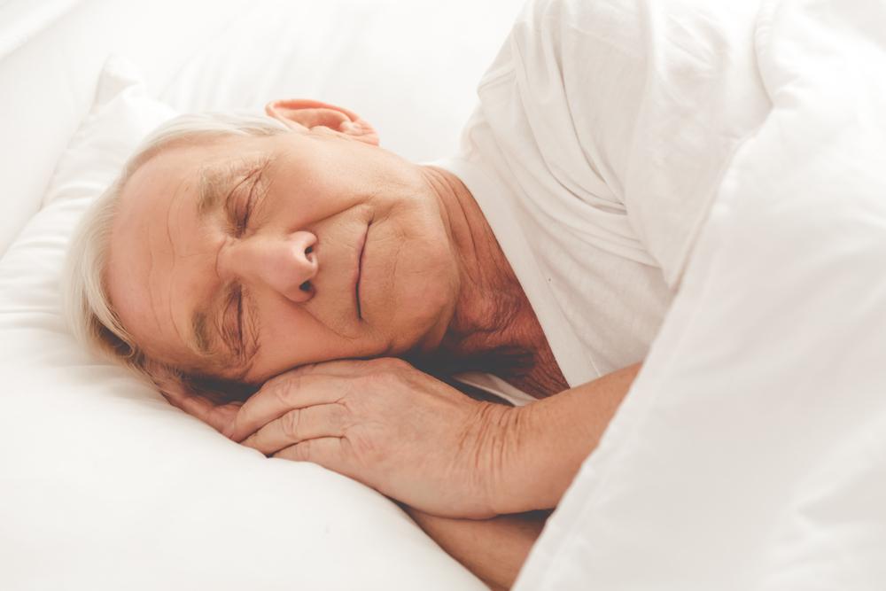 senior sleeping