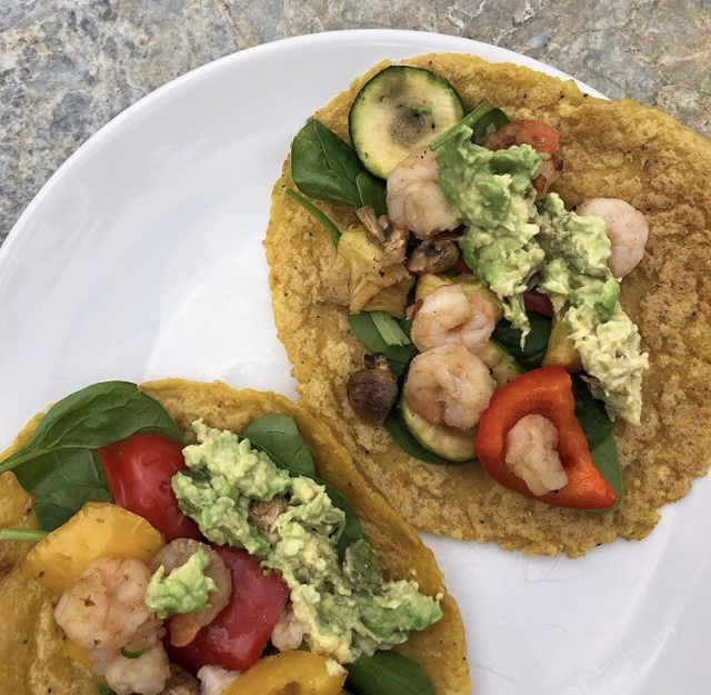 Shrimp Tacos with Positively Plantain Tortillas