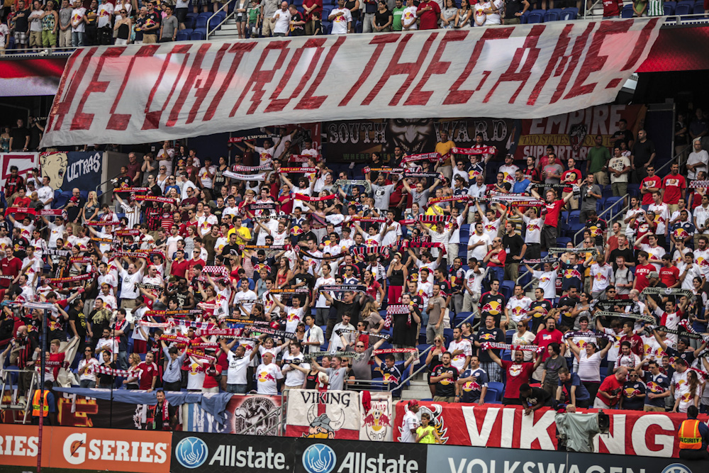 New York Red Bulls fans fill up Red Bull Arena