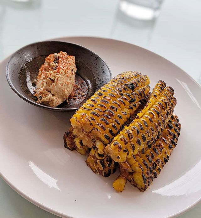 Just a couple of weeks left of our summer menu. It will be so hard to say goodbye to our grilled corn on the cob with miso butter. 🌽 Come see us before it goes! . . . . . #momoyakitori #dmvfood #cornonthecob #riamainstreet #sweetcorn #grilledcorn #yakitori #dcdining #dcfood #dceats #dmveats #charcoalgrill #butter #misobutter