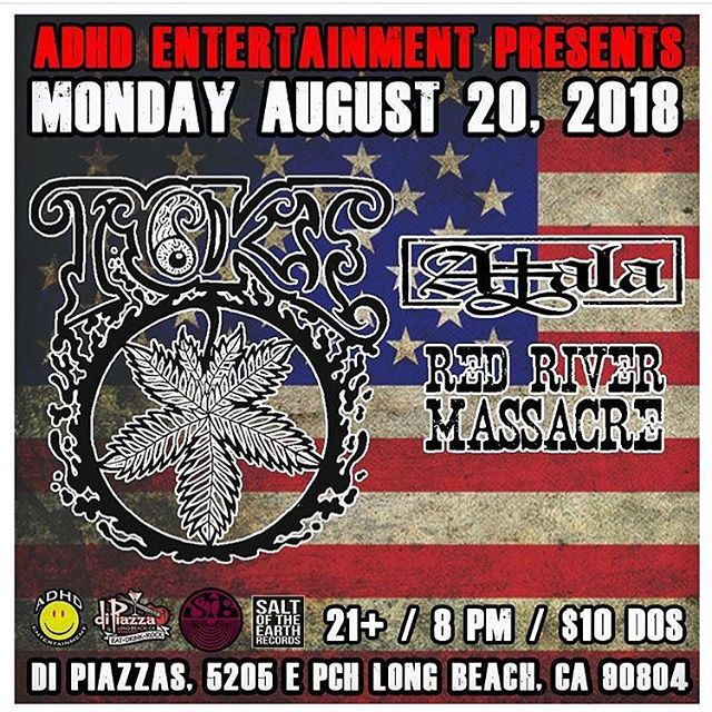 Monday with @toke_nc and @atalarock29 Don't miss it!