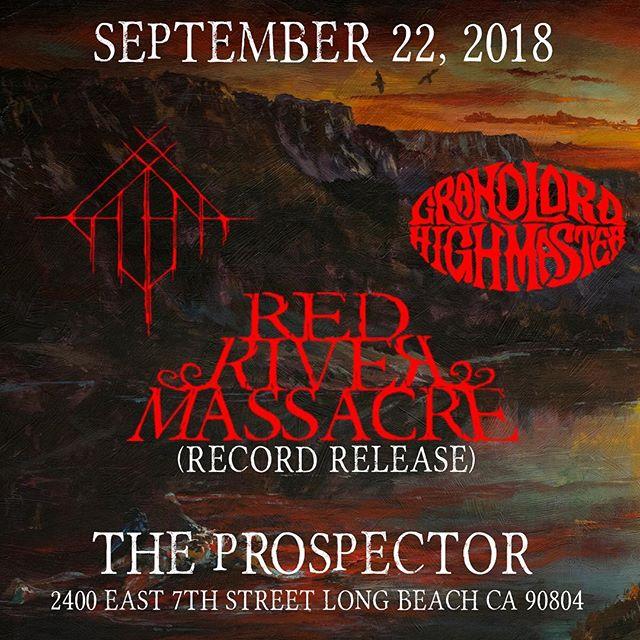 It's happening. Saturday. Sept. 22nd . . . #longbeachbands #westernsludge #doommetal #heavymetal #recordreleaseparty #lbc #theprospector #thrash #reasonstolovelongbeach #galena #galenaband #grandlordhighmaster