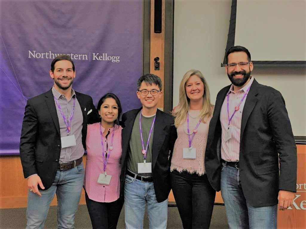 From left to right: Dustin Childers, Dr. Lopa Das Roy, Dr. Alan Chang, Julie Daugherty, Benjamin Guerrero