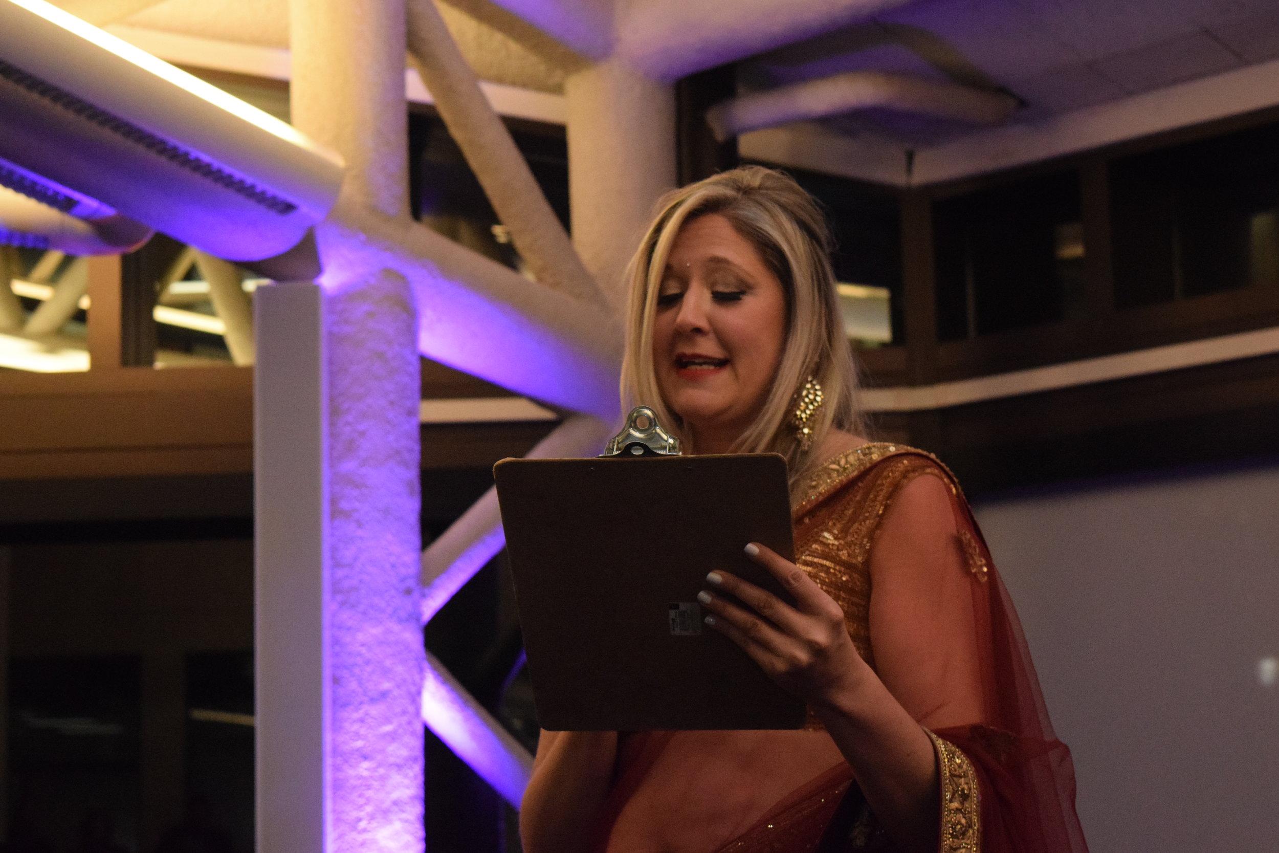 Julie Daugherty, Our Masters of Ceremonies..