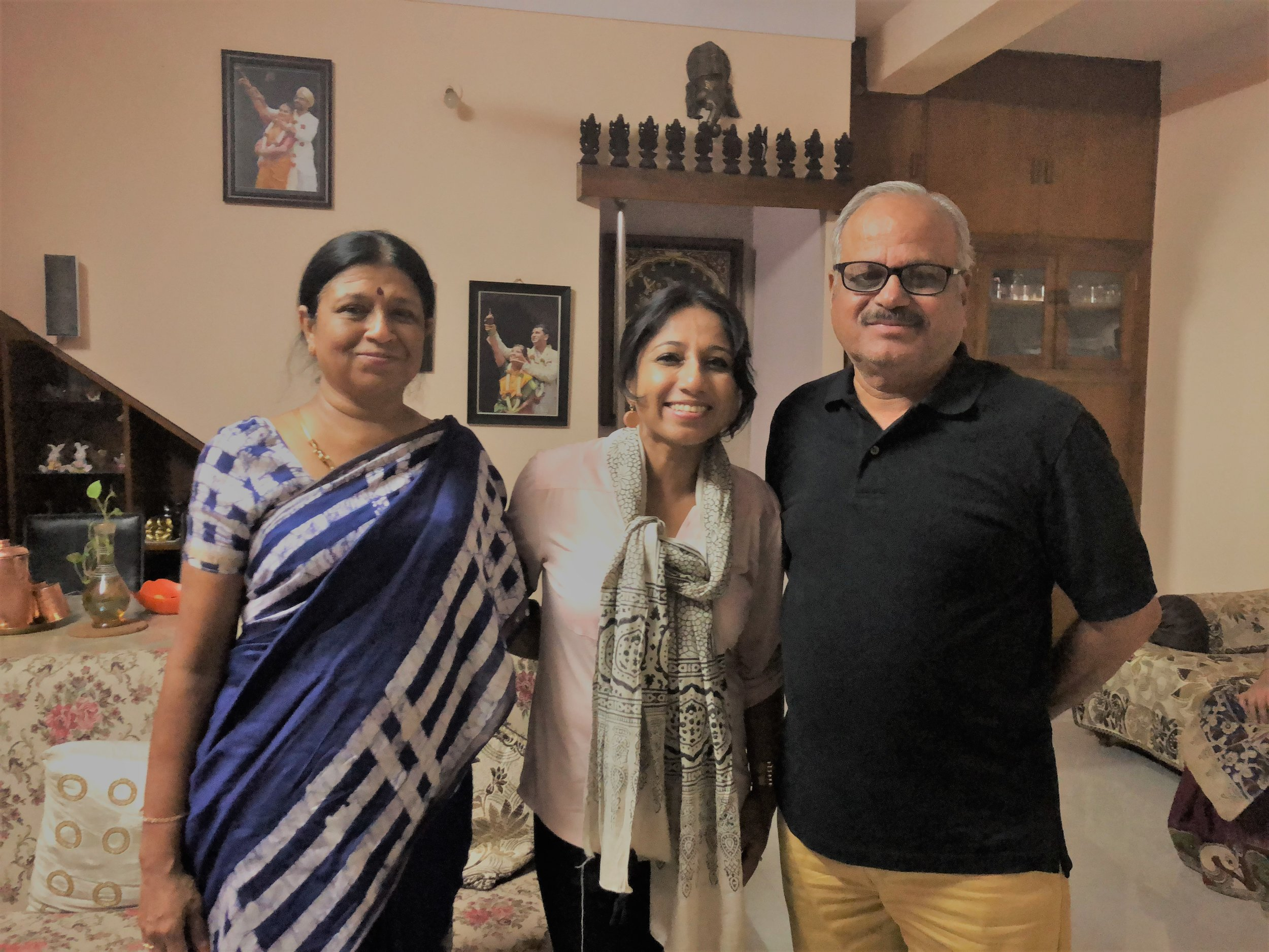 With Mrs. Chitra N Ravikumar, Deputy Director Systems, Income tax and Mr. P D Ravikumar, Manager, RBI—It was my honor to meet Mrs. and Mr. Ravikumar, my friend Sri Lakshmi's parents. Sincerely thankful to them for connecting me to their network and supporting the cause