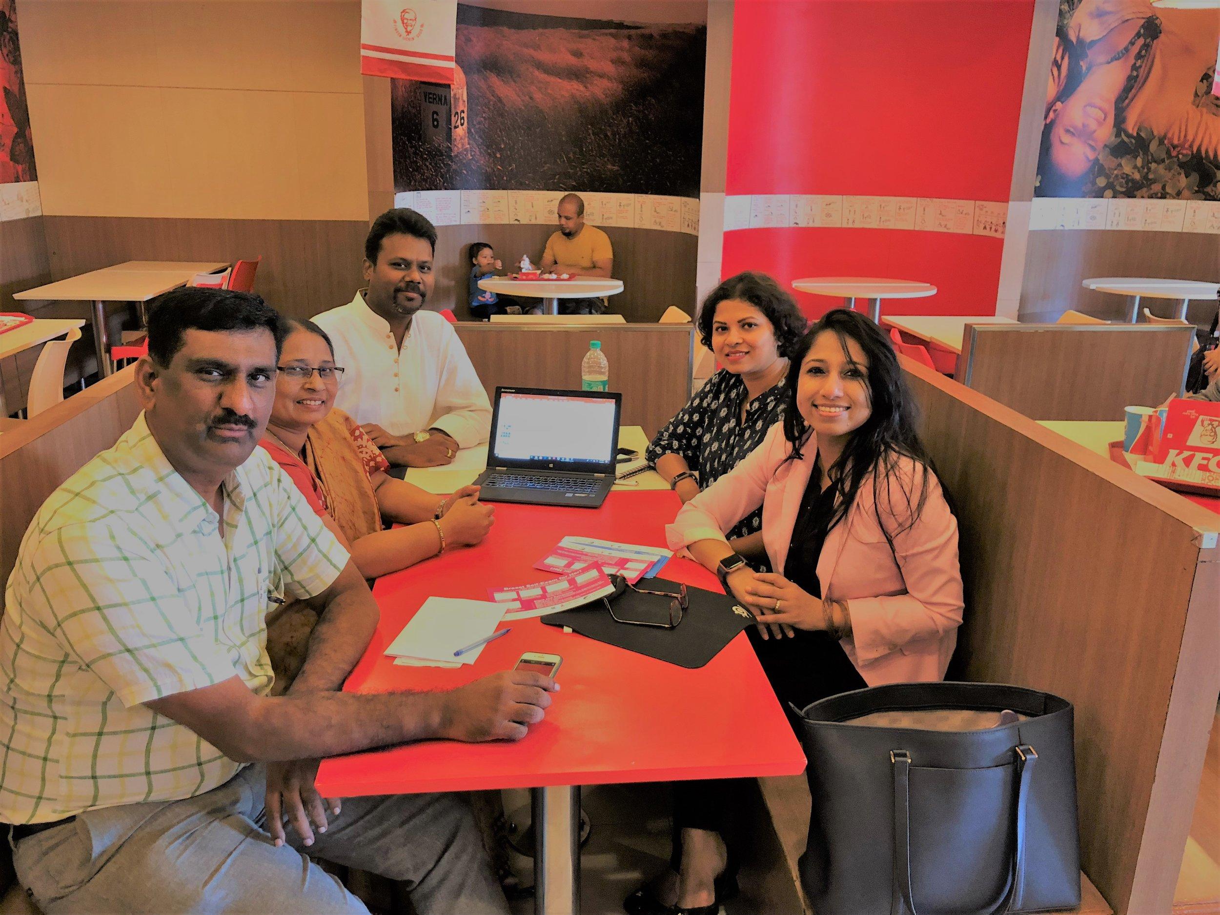 It was a privilege meeting Mr. KCN Reddy, Ms. Shobha Preetham Niranjan, Mr. Devarajan Kalladan  and Dr. Chethana Thirthahalli Collaborator: Mr. Devarajan Kalladan: Sincerely thankful to Arun Arunachalam from Northwesten Kellogg School of Management for getting me in touch with Devarajan, Director, Rotary Club of Bangalore, Koramangala. I am thankful to Mr. Devarajan for introducing me to KCN Reddy, Shobha Preetham and Dr. Chethana Thirthahalli