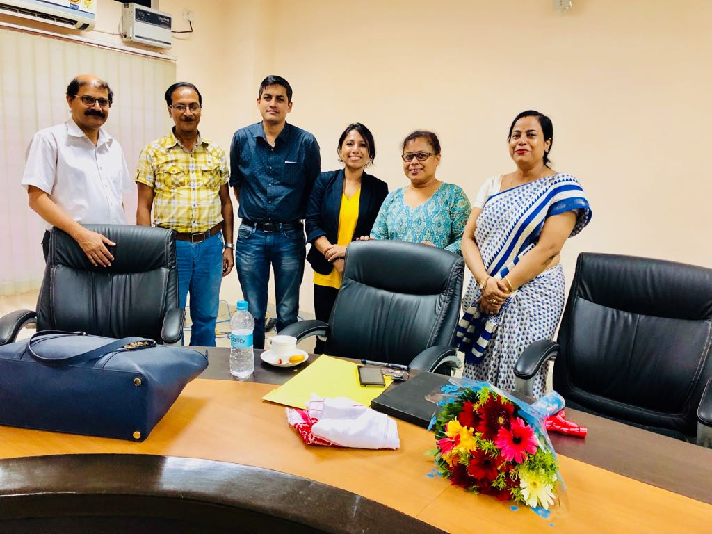 From Left to right: Dr. B.B Borthakur, Medical Superintendent; Dr. A.K Kalita, Professor & Head of Dept, Radiation Oncology; Dr. M. Krishnatreya, Medical Officer, Cancer Registry and Epidemiology; Dr. M. Bhattacharyya, Addisional Professor, Radiation Oncology; Dr. S. M. Bhagabaty, Associate Professor, Preventive Oncology. Breast Cancer Hub has collaborated for research with Dr. Srabana M. Bhagabaty, Associate Professor, Preventive Oncology; Dr. Manigreeva Krishnatreya, Medical Officer, Cancer Registry and Epidemiology; Dr. Mouchumee Bhattacharyya, Additional Professor, Radiation Oncology and together we look forward to add value to the scientific grounds on Breast Cancer research in Assam. I am sincerely thankful for supporting the research cause and your collaboration. Dr. Kataki has supported the thoughts on Clinical Breast Exams and also giving out handouts on Breast Self Exams. Biographies of Dr. Krishnatreya, Dr. Bhagabaty, Dr. Bhattacharyya will be available on BCH website under Collaborators' section