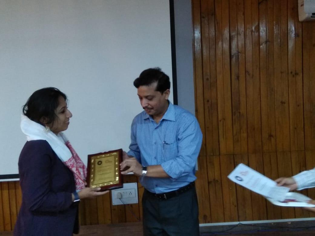 """At Dr. B. Borooah Cancer Center, 14th July 2018, Presentation on """"Breast Cancer - Embarrassment and Taboo"""".Thankful to Dr. Kataki and Dr. Kabindra Bhagabaty, Palliative Care Department for the honor!"""